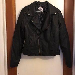 Volcom faux leather, bomber jacket